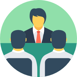 People in a meeting icon