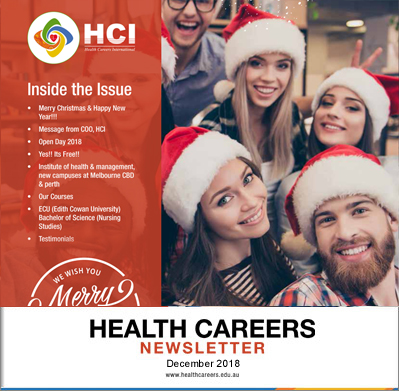Health Careers Newsletter December 2018 Edition