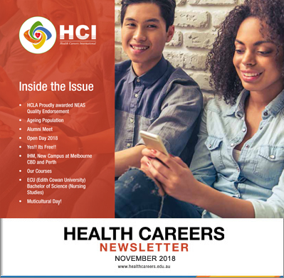 Health Careers Newsletter November 2018 Edition