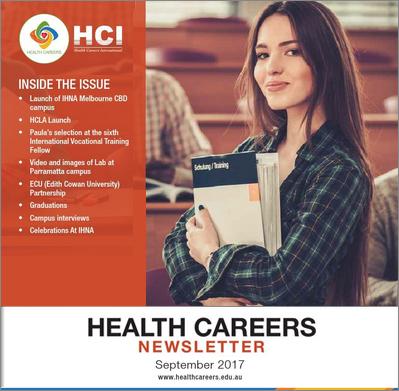 Health Careers Newsletter September 2017 Edition